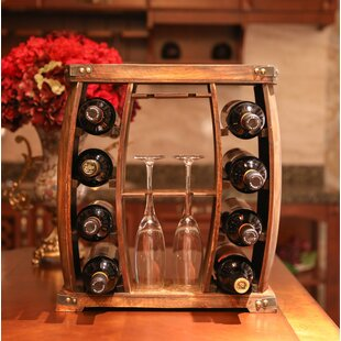 Gullion Rustic Wooden 8 Bottle Floor Wine..