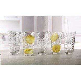 Chevron 15.75 oz. Glass Every Day Glasses (Set of 10)