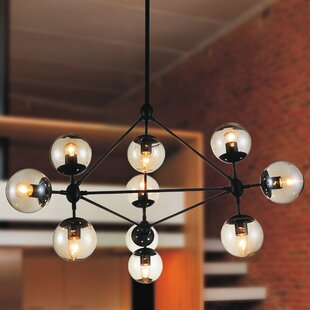 CWI Lighting Glow 10-Light Chandelier