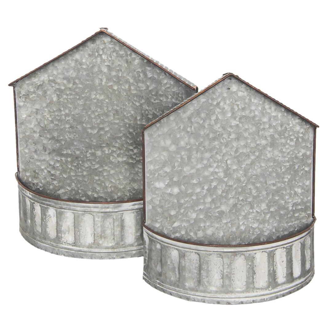 Gipson 2 Piece Metal Wall Planter Set