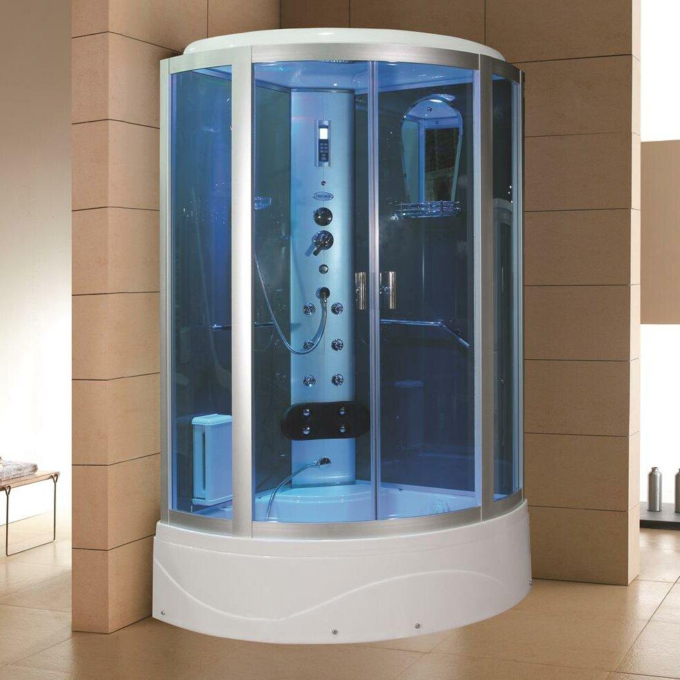 Eagle Bath 42 X 86 2 Neo Angle Sliding Steam Shower With Base Included Wayfair