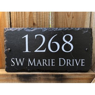 c68dbfdc8de0 Hanging Signs Address Plaques & Signs You'll Love in 2019 | Wayfair