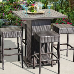 Medley 5 Piece Pub Table Set Rosecliff Heights