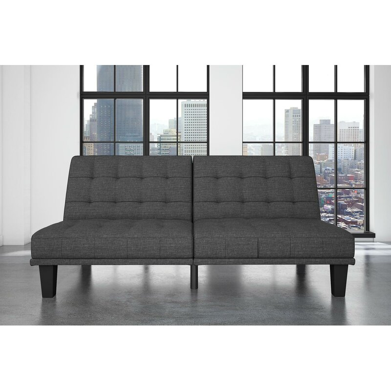 Wayfair | Wade Logan Haysi Futon Lounger Convertible Sofa
