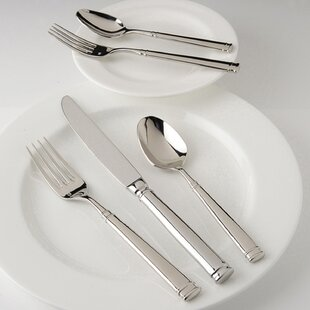 Bistro 5 Piece 18/10 Stainless Steel Flatware Set, Service for 1