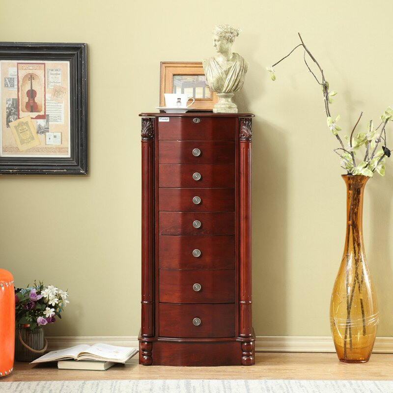 Canora Grey Kroeker Free Standing Jewelry Armoire with ...