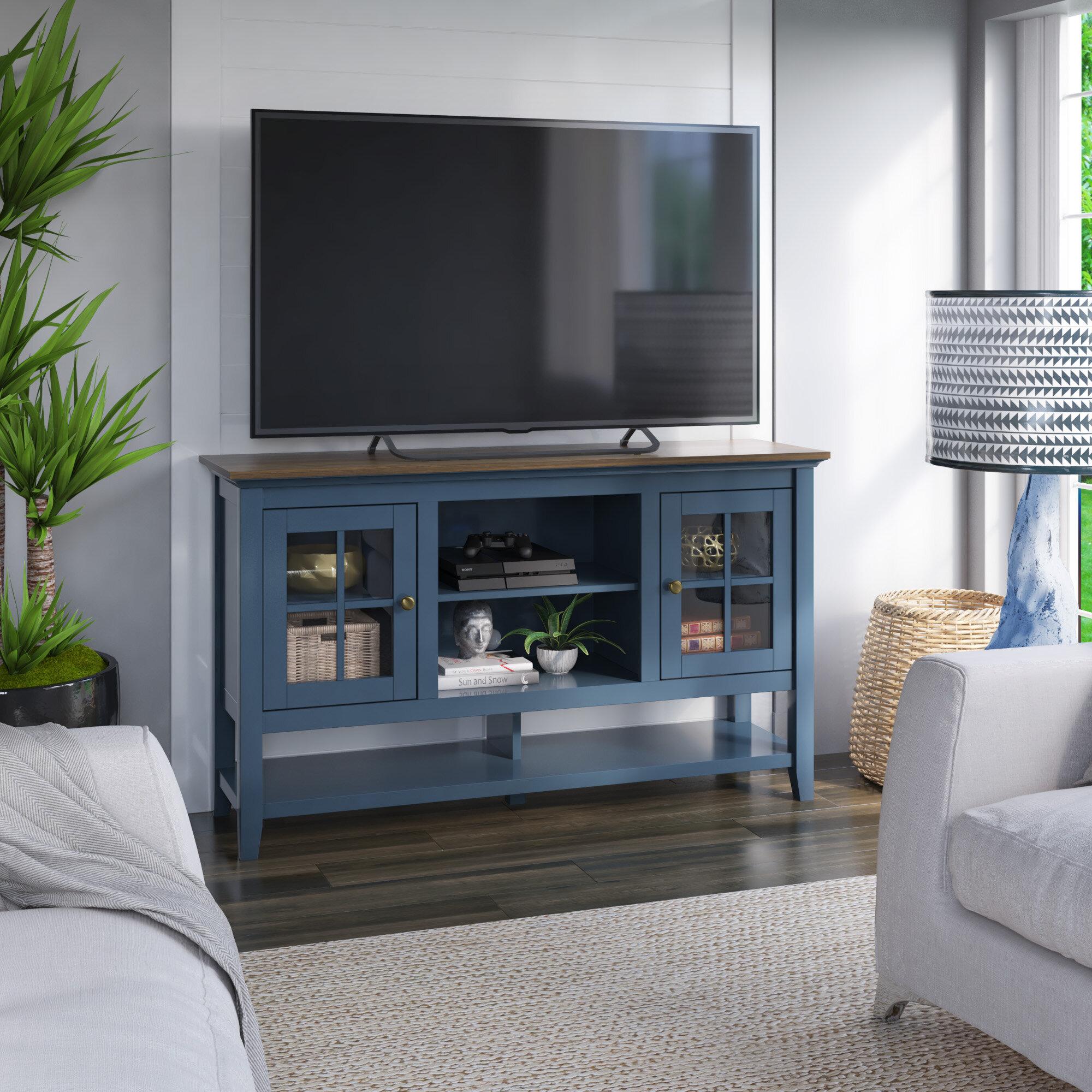 Coastal Farmhouse Alannah Tv Stand For Tvs Up To 60 Reviews Wayfair