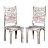 Kamp Rustic Solid Wood Dining Chair (Set of 2) by Bloomsbury Market