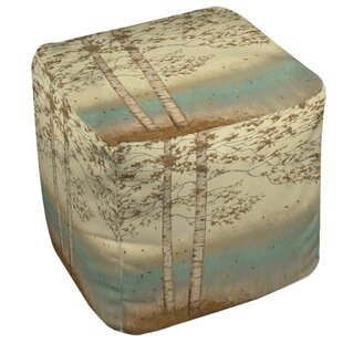 Golden Birch Pouf