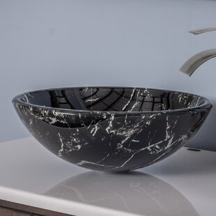 Novatto Pallina Glass Circular Vessel Bathroom Sink