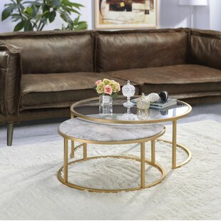 Anyan 2 Piece Coffee Table Set by Mercer41