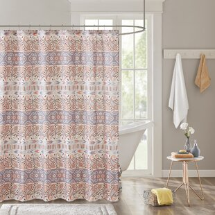 Claudine Printed Shower Curtain by Harriet Bee