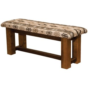 Barnwood Upholstered Bench by Fireside Lo..