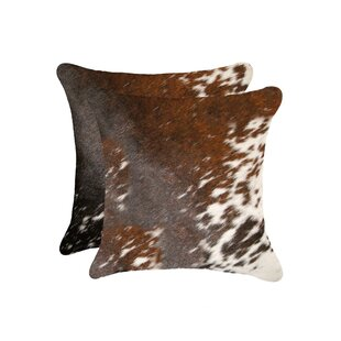 Beahm Cowhide Throw Pillow (Set of 2)