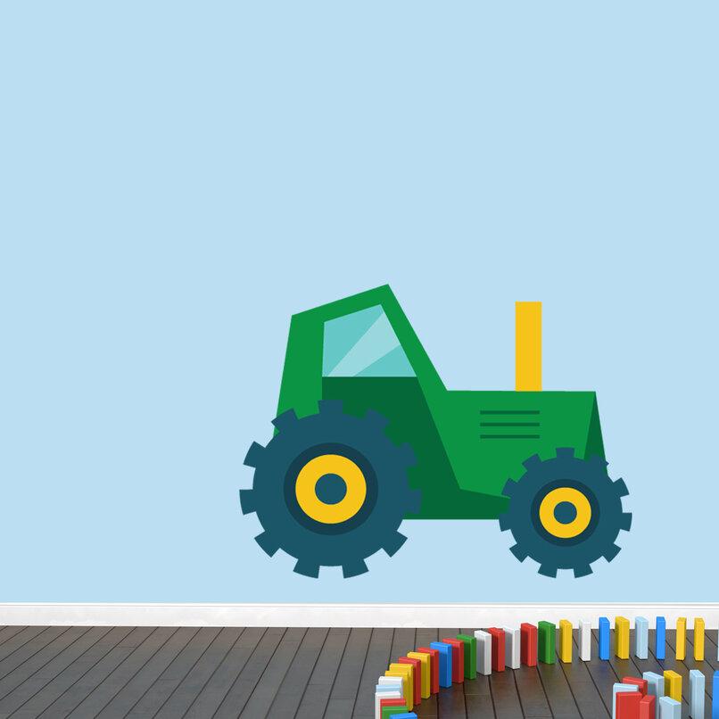 Zoomie Kids Ingham Tractor Wall Decal | Wayfair