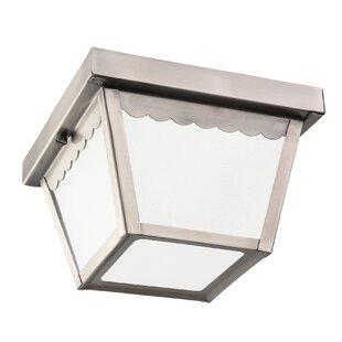 August Grove Donald LED Outdoor Flush Mount