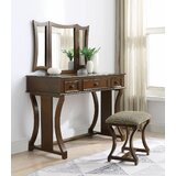 Caruthers Vanity Set with Stool and Mirror by Red Barrel Studio®