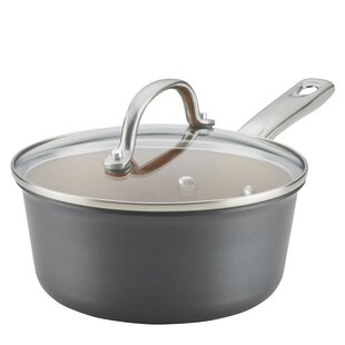 Hard-Anodized 2 qt. Aluminum Sauce Pan with Lid