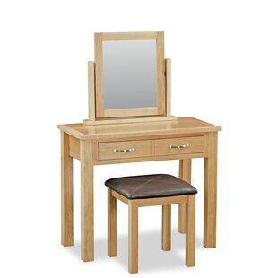 Carswell Dressing Table Set With Mirror By Gracie Oaks