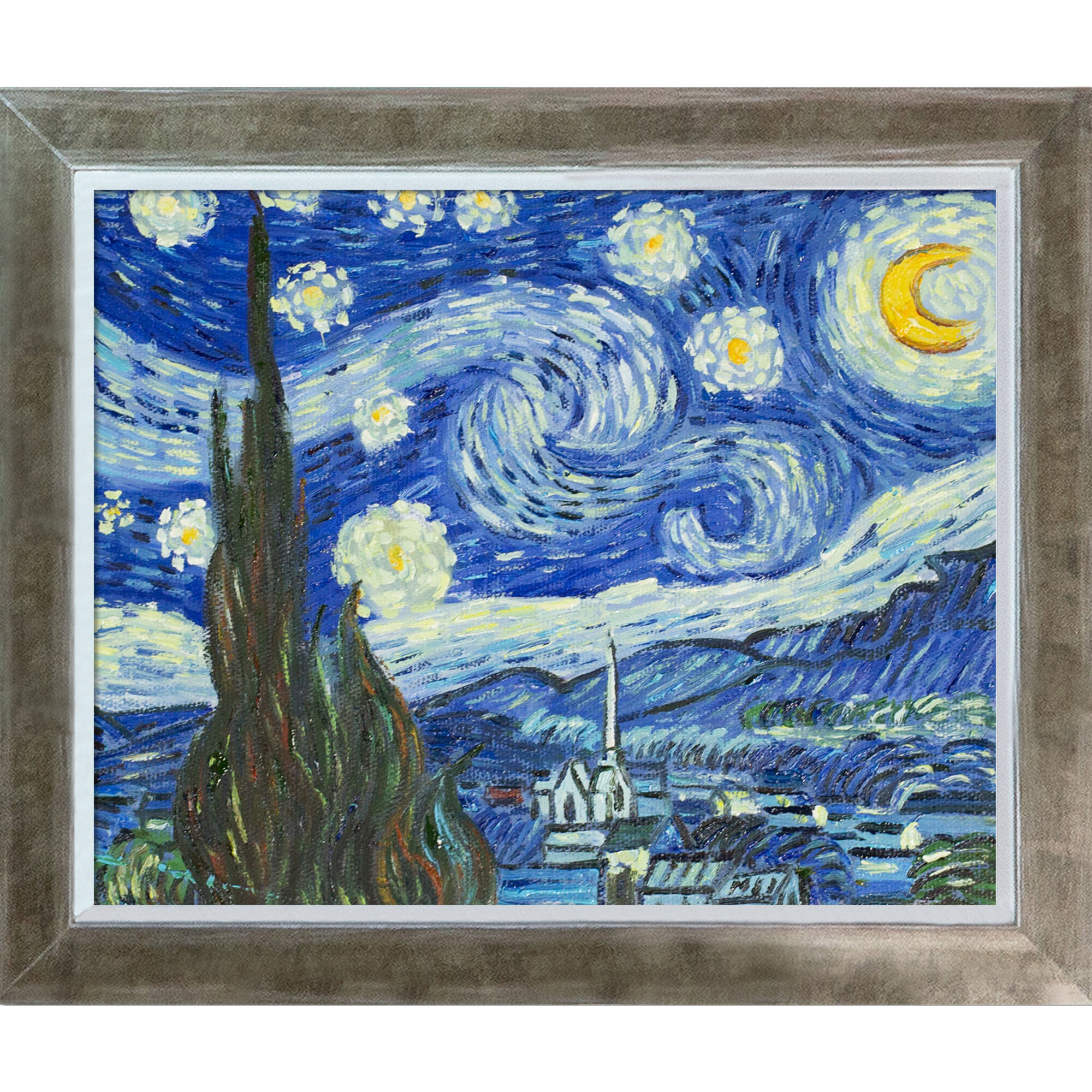 Vault W Artwork Starry Night By Vincent Van Gogh Picture Frame Painting On Canvas Reviews Wayfair
