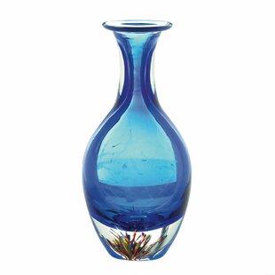Ryals Glass Bottleneck Table Vase