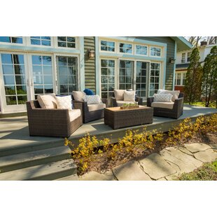 Darden 5 Piece Sofa Seating Group with Cushions