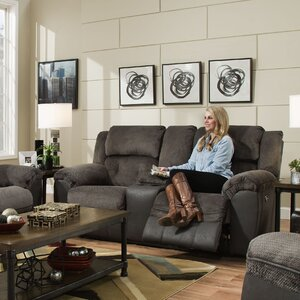 Simmons George Double Motion Reclining Loveseat
