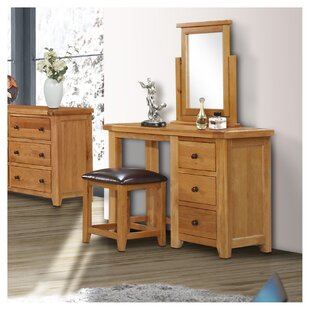 Check Price Dressing Table Set With Mirror