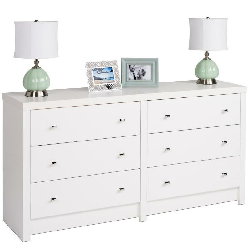 PINE FURNITURE AYLESBURY 6 DRAWER DOUBLE DRESSING TABLE