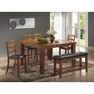 Gossett 5 Piece Solid Wood Dining Set Red Barrel Studio