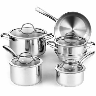 Classic 9-Piece Stainless Steel Cookware Set