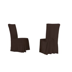 Relaxed Smooth Furniture Dining Chair Slipcover (Set of 4) (Set of 4) by R..