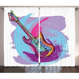 Guitar Curtains Wayfair