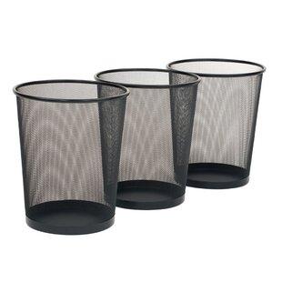Ronda Steel 6 Gallon Waste Basket (Set of 3) BySymple Stuff