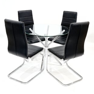Coledale Dining Set With 4 Chairs By Wade Logan