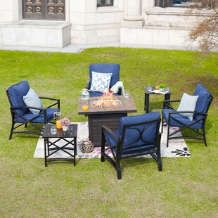 Adan 7 Piece Multiple Chairs Seating Group with Cushions