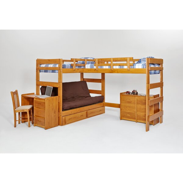 Chelsea Home Twin Over Full L Shaped Bunk Bed Birch Lane