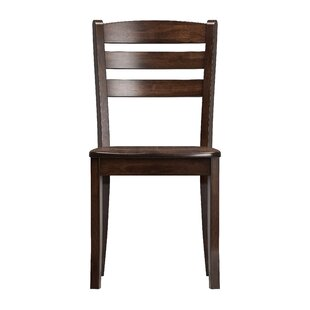 Three Posts Liggett Contemporary Solid Wood Dining Chair (Set of 2)