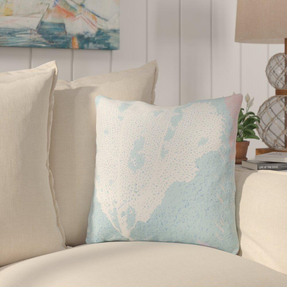Highland Dunes Chaucer Eye Catching Coral Outdoor Throw Pillow Wayfair