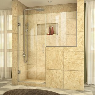 Best Reviews Unidoor Plus 63.5 x 72 Hinged Frameless Shower Door with Clearmax™ Technology By DreamLine