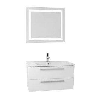 Dadila 24.4 Single Bathroom Vanity Set with Mirror