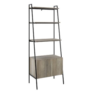 Caldwell Metal and Wood Ladder Bookcase by Williston Forge