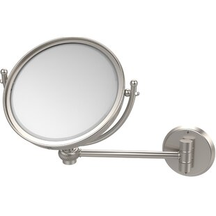 Allied Brass Wall Mounted Make-Up 4X Magnification Mirror with Twist Detail