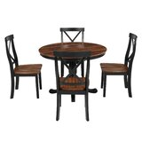 Bradberry 5 - Piece Solid Wood Dining Set by Longshore Tides
