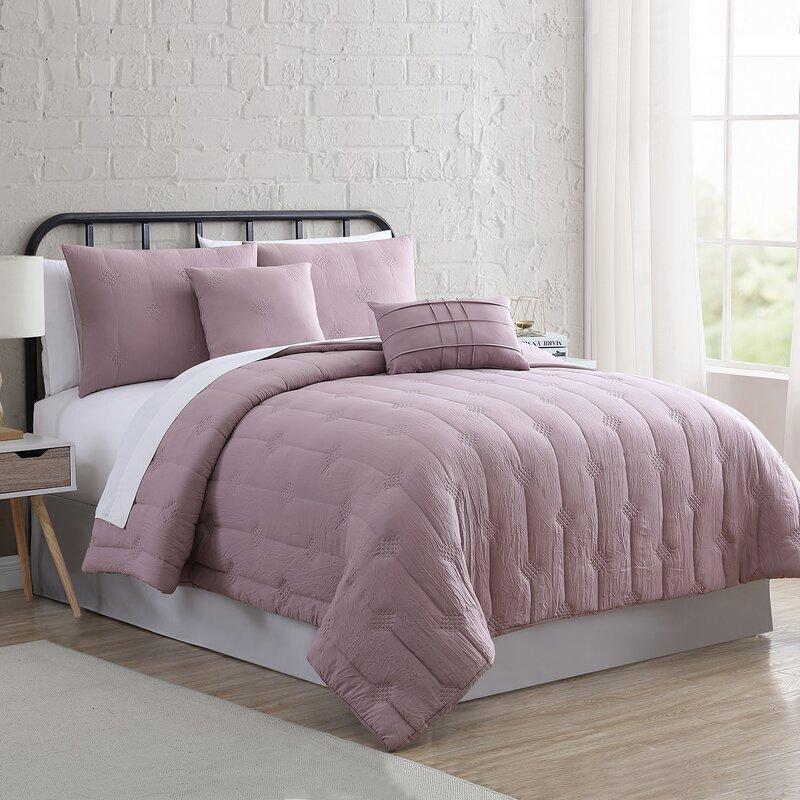 Gracie Oaks Amal Garment Washed Comforter Set Reviews Wayfair