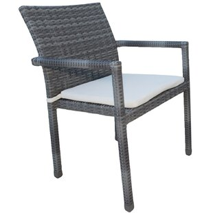 Newport Beach Stacking Patio Dining Chair With Cushion by Panama Jack Outdoor Reviews