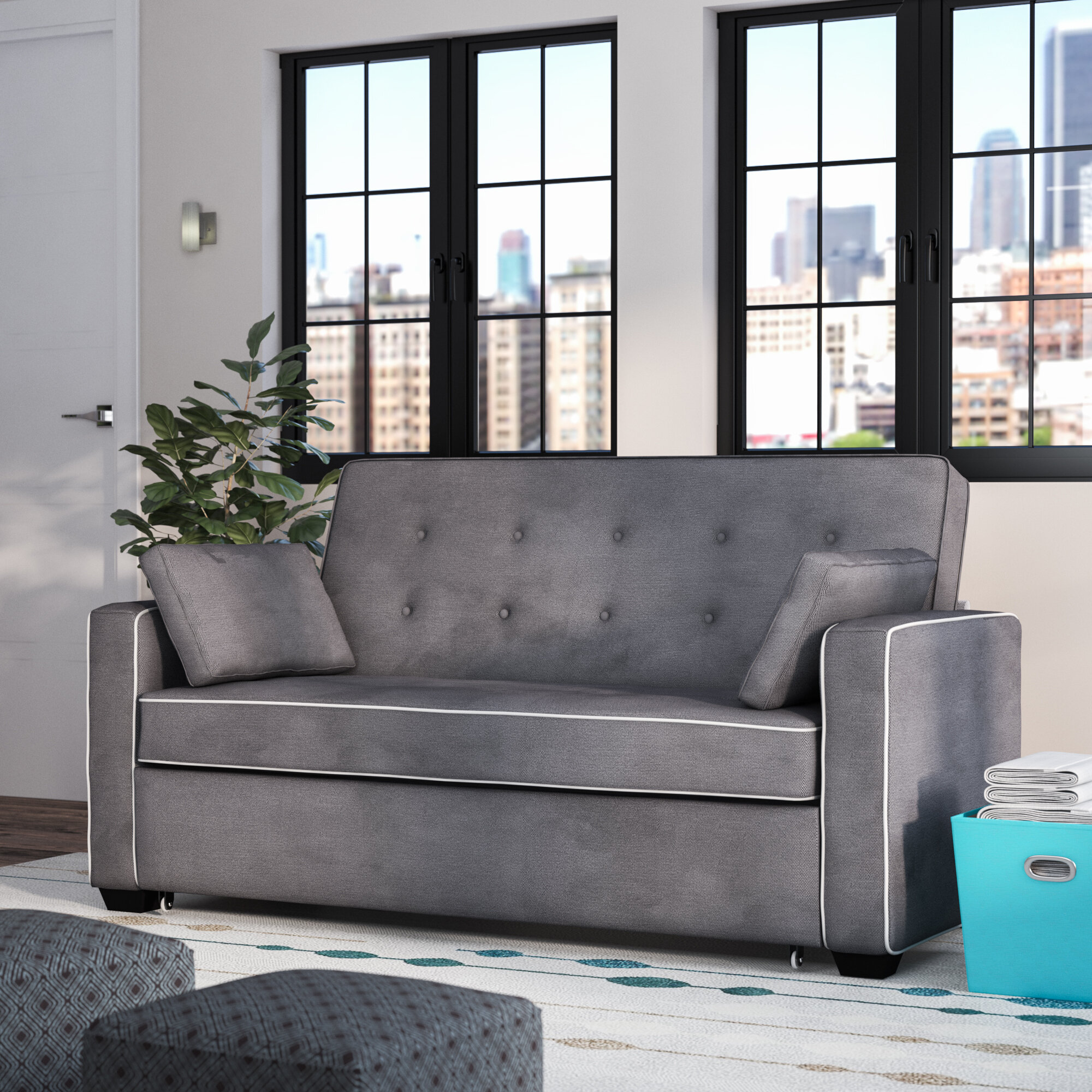 evan queen sleeper sofa reviews birch lane