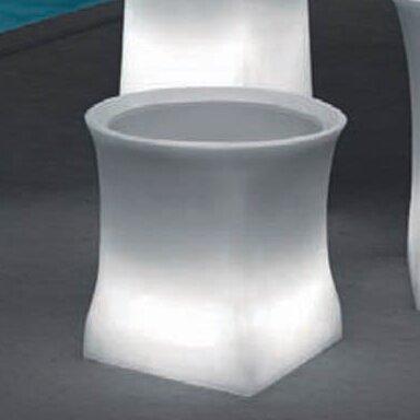 """100 Essentials Brightness Plastic Pot Planter  Size: 15.75"""" H x 20.87"""" W x 20.87"""" D"""