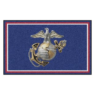 U.S. Marines Navy Area Rug By FANMATS