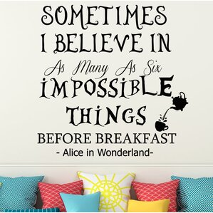 Alice In Wonderland Wall Decal